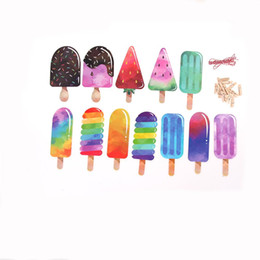 Wholesale Banner Settings - 1 Set New Style Colorful Popsicle Ice Cream Banner Back To School Summer Party Bar Ice Pop Garland Kid Birthday Party Decoration