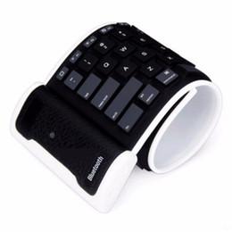 Wholesale Ipad Mini Bluetooth Keyboards - Flexible English Verson Silicone Wireless Bluetooth Keyboard Mini Keyboard with USB Charging Cable Universal For PC Laptop iPad