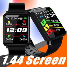 Relógio de tela tft on-line-Para Apple iPhone relógio inteligente wirstband aptidão rastreador com frequência cardíaca banda Xiaomi monitor de pk tela colorida de 1,44 TFT 3 ID115