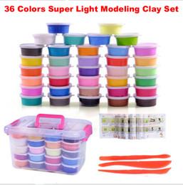 Jeux d'argile en Ligne-36 couleurs / set argile plastique coloré silly mastic pâte à modeler super léger argile jeu éducatif jouets le cadeau pour les enfants