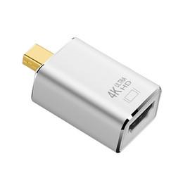 2020 mini displayport hdmi adapter HDMI Adapter Mini DP Stecker auf HDMI Buchse Adapter 4K * 2K Kabelkonverter AV 1080P Mini DisplayPort Adapter rabatt mini displayport hdmi adapter