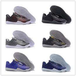 sports shoes 96c36 0b48b 2018 Vendita a buon mercato kobe 11 Mentality 3 Sport scarpe da basket per  uomo di alta qualità KB 11s 3M Ash Giallo viola scarpe da ginnastica di ...