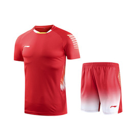 polyester badminton t shirts Coupons - Hot 2018 Li Ning Badminton Shirt,Men Women Badminton T-Shirts,LiNing Tennis Team Jersey,Quick dry SportWear Clothes Table Tennis jerseys