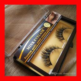 Wholesale Wholesale Lash Strips - Makeup Mink Eyelash False Fake Eyelashes Handmade Natural Long Thick 100% Real Mink Natural ThickEye Lashes Extension 2018 Premium Quality