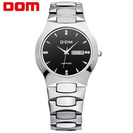 Мужские наручные часы из вольфрамовой стали онлайн- Men Watch Top  Business Tungsten Steel Quartz Wristwatches For Man Waterproof Fashion Casual Male Clock reloj hombre