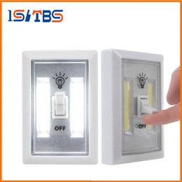 Wholesale rv cabinets - COB LED Switch Light Wireless Cordless Under Cabinet Closet Kitchen RV Night Light indoor wall light Night Lights