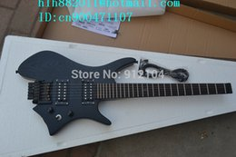 Wholesale Ems Electric Guitars - new headless electric guitar in black with elm body+EMS free shipping+foam box F-2097