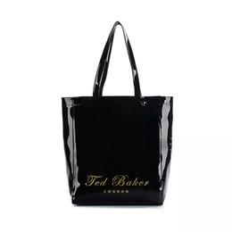 2019 bolsos de mano damas negro Bolso de la marca de lujo al por mayor famoso diseñador de pvc mujeres bolsos de mano bolso de las señoras del arco mujeres bolsa negro bolsas de playa de las mujeres sac 2016 bolsos de mano damas negro baratos