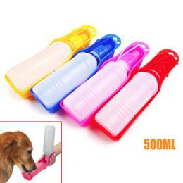 Articoli da viaggio per cani online-Fuori portatile Pet Dog Drink Daily Travel Bollitore Pet Dog Kettle 500ml Tromba Groove Pet Supplies