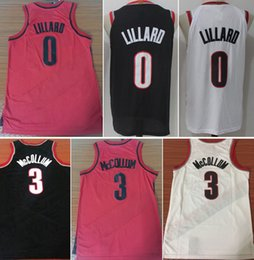 Wholesale Men S Sleeveless Shirts - 2017 NEW 0 Damian Lillard 3 CJ McCollum Basketball Jerseys College Shirts Stitched Jersey