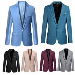 e2d867d30ac Fashion Spring Autumn Men Blazer Long Sleeve Solid Color Slim Man Casual  Thin Suit Jacket Office Blazers Plus Size S-6XL FS99