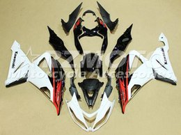 Wholesale Red White Zx6r Fairing - New Motorcycle ABS bike Fairings kits Fit for KAWASAKI Ninja ZX6R 636 2013 2014 2015 2016 2017 599 13 14 15 16 17 6R Bodywork set red white