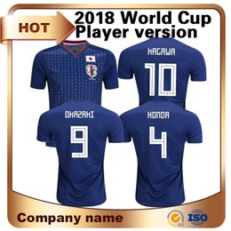 Wholesale Honda Jerseys - 2018 Sale World Cup Japan Player Version Soccer Jersey Home #10 Kagawa #9 Okazaki #4 for Honda Football Shirt National Team Sports Uniform
