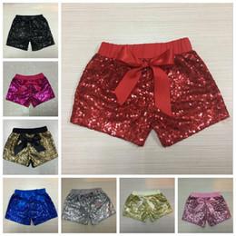 ropa de fiesta de resplandor Rebajas Baby Sequins Shorts Toddler Summer Glitter Pantalones Chicas Bling Dance Party Shorts niños Glow Bowknot Pantalones Casual Kids Designer Clothes YL535