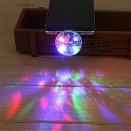 Wholesale Banks Autos - Wholesale- 5W USB Powered Mini RGB LED Disco Ball Shape Stage Effect Party Club DJ Light for Mobile phone PC pow bank