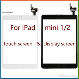 Wholesale Ipad Mini Digitizer Flex - Free shipping or ems 100% Completed For iPad mini 1 mini 2 Touch Digitizer Screen With IC & Home Button Flex Cable