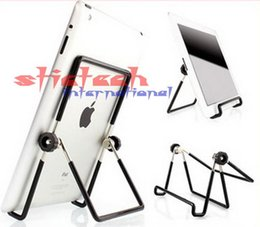 Wholesale Tablet Pc Stand Portable Foldable - by dhl or ems 500 pieces Portable Foldable Adjustable Desktop Mobile Cell Phone Stand Holder For Air 7 inch Tablet PC Holder