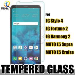 Pour LG Stylo 4 Fortune 2 Téléphones de cricket Protecteur d'écran en verre trempé pour MOTO E5 Croisière Supra Galaxy Halo 9H Film transparent à l'avant ? partir de fabricateur