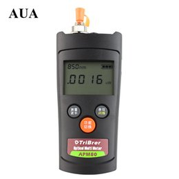 Wholesale power cable network - MiNi Optical Power Meter For Optical Fiber Networks + LCD Display -70 ~ +6 dBm Fiber Tool Free shipping