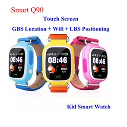 smart watch iphone wifi Promo Codes - Q90 Bluetooth Smartwatch with GPS WiFi LBS for iPhone IOS Android Smart Phone Wear Clock Wearable Device Smart Watch 5 Colors