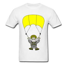 Botón divertido online-Skydiver Fun Hippo Skydiving T-shirt Camisetas de encargo de la impresión de la historieta para el diseño divertido del estudiante Camisetas gráficas lindas ningún botón