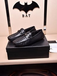 Wholesale Eu Dresses - Cheap Italy Brand Mens Genuine Leather Shoes High Quality Genuine Leath Cause Shoes, BO-VE EU 38-44 Black More Pics Contact Me