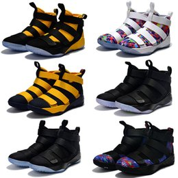Wholesale Limited Edition Sneakers Man - 2017 New Arrival James XI Soldiers 11 Limited Edition Chameleon Men's Basketball Shoes for Top Quality Cheap Sale Sports Sneakers Size 40-46