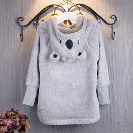 Wholesale Bear Warmer - Girls Bear Hoodies Cloak Cape Warm Winter Autumn Cute Bear Ear Short Coats with Hat 2-6T