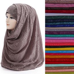 2019 bufanda de perlas musulmanes 10pcs / lot Estampado de flores Perla Burbuja Chiffon Mujeres Musulmanes Hijab Bufanda Chal Wrap Head Wear rebajas bufanda de perlas musulmanes