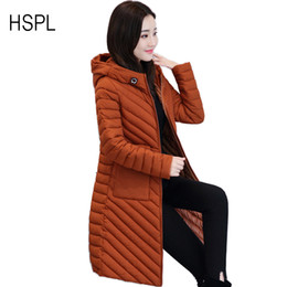 Wholesale Thin Down Coats For Women - Wholesale-Women's Down & Parkas Cotton Jacket Female Cotton For Winter 2017 Newest Fashionable Natural Hooded Thin Trending Parka Coats