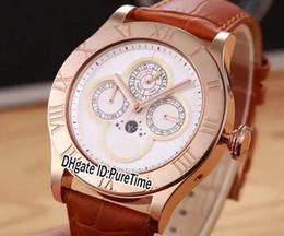 copas de luna Rebajas Nueva Admiral's Cup Legend Rose Gold Silver Dial Día Fecha Fase lunar Reloj automático para hombre Reloj deportivo Relojes de cuero de alta calidad C46