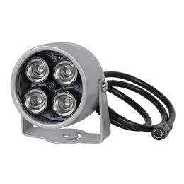 Инфракрасный свет 12v онлайн-ИК-осветитель свет 850 Нм 4 массива светодиодов инфракрасный водонепроницаемый ночного видения CCTV Fill Light DC 12V для CCTV камеры безопасности