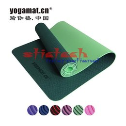 Wholesale Comfortable Folding - by dhl or ems 20pcs Folding Non-slip Surface Light Weight Comfortable 6mm Natural Rubber TPE Yoga Mat for Beginner with Bag