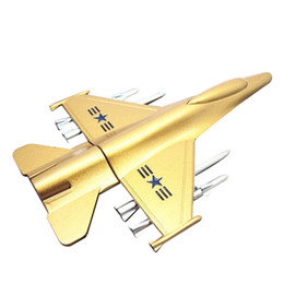 Wholesale metal model fighter plane - New Metal USB Flash Drive Plane Airplane Model Pendrive 8GB 16GB 32GB 64GB USB 2.0 Memory Stick Handsome Fighter Pen Drive for Home office