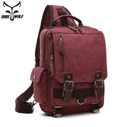 Canvas Crossbody Bags For Men Women Retro Leather Messenger Chest Bag  Shoulder Sling Bag Large Capacity Women Backpack 4f621731ba45b