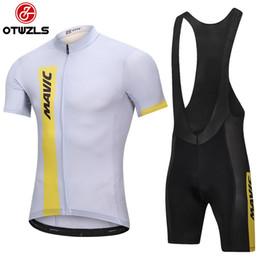 Wholesale Mens Mountain - MAVIC 2018 Mens Cycling Jersey Sets Cycling Clothing Pro Team Mountain Bike Jersey Coolmax Cycling Pads Bike Shorts Maillot Ciclismo Hombre