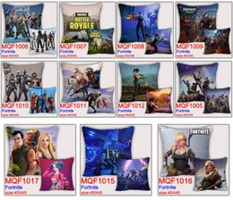 Wholesale rectangle cushions - 45*45cm Game Fortnite Pillows Case Cartoon Fortnite Printing Pillow Cover Sofa Nap Cushion Covers Home Car Decoration 50pcs