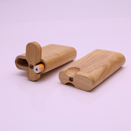 "Wholesale Hand Bat - Natural wood dugout pipe hand-made Dugout Cigarette Pipes with 2.2"" Digger Bat pipe Metal One Hitter pipes Cigarette filters pipes"
