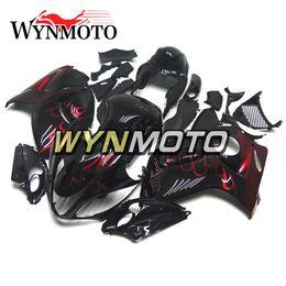 2019 hayabusa negro carenados rojos Para Suzuki GSXR1300 Hayabusa Año 2008 - 2016 Inyección de ABS Carenados Inyección de alta calidad Negro Rojo Carrocería Nuevo rebajas hayabusa negro carenados rojos