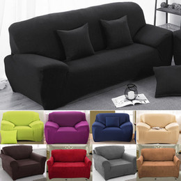 Wholesale Living Room Couches - Home Sofa Covers For Living Room Modern Sofa Cover Elastic Polyester Sofa Towel Furniture Protector Polyester Love Seat Couch Cover
