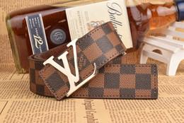 Wholesale Tall Men Fashion - High quality men's genuine leather belt designer belts men luxury strap male belts for men fashion vintage pin buckle for jeansY18