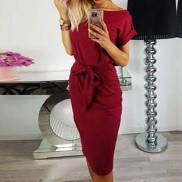 7d557ba2f9cc 2018 New Summer Women Casual Vintage Dress Knee-Length Sexy Bandage Bodycon Short  Sleeve Dresses Sundress vestido rayon sundresses promotion