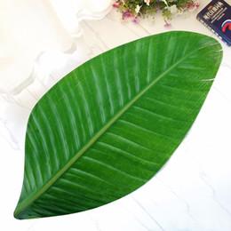 Alfombras de color beige online-LYNGY New Green Leaves Design Alfombra de baño felpudo Alfombra antideslizante para cocina de la sala de estar Alfombras dormitorio Alfombra de bano