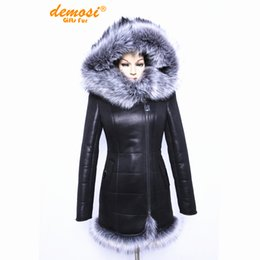 Wholesale Applique Suppliers - 2017 Factory direct supplier Artificial fox fur fashion big yards thick Hooded women coat new 7XL thick winter Faux Suede jacket