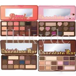 Wholesale 18 Color Eyeshadow - Makeup Chocolate Bar Eyeshadow Palette Semi-Sweet Bonbons Sweet Peach 16 18 Color Eye Shadow Palette Free Shipping