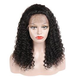 2019 parrucche per capelli ricci mongoliane Riccio crespo dei capelli umani parrucche anteriori del merletto con i capelli del bambino brasiliano malese peruviano indiano mongola ricci Virgin Parrucche per le donne nere