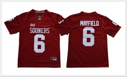 b390a3168 New Oklahoma Sooners  6 Baker Mayfield Red Vintage Mens College American  Football Sports Shirts Pro Jerseys Stitched Embroidery pro football jerseys  on sale