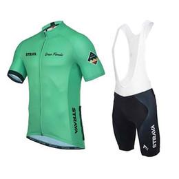 Wholesale Team Cycling Shirt Bib Short - 2018 STRAVA Men team Cycling Short Sleeve Jersey Breathable Quick Dry Shirt Ropa Ciclismo Summer MTB Bike Bib Shorts Set Clothing C1408
