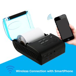 2019 weißer telefonkasten billig Falor 58mm Thermodrucker Bluetooth 4.0 Android POS-Empfangsdrucker Bill Machine für Supermarkt EU / US / UK / AU STECKER
