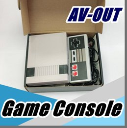 Wholesale Open Box Sales - free DHL Sale Mini TV RCA Video AV-OUT Game Console Handheld mini pc for NES Games lift open BOX with retail Small box A-JY